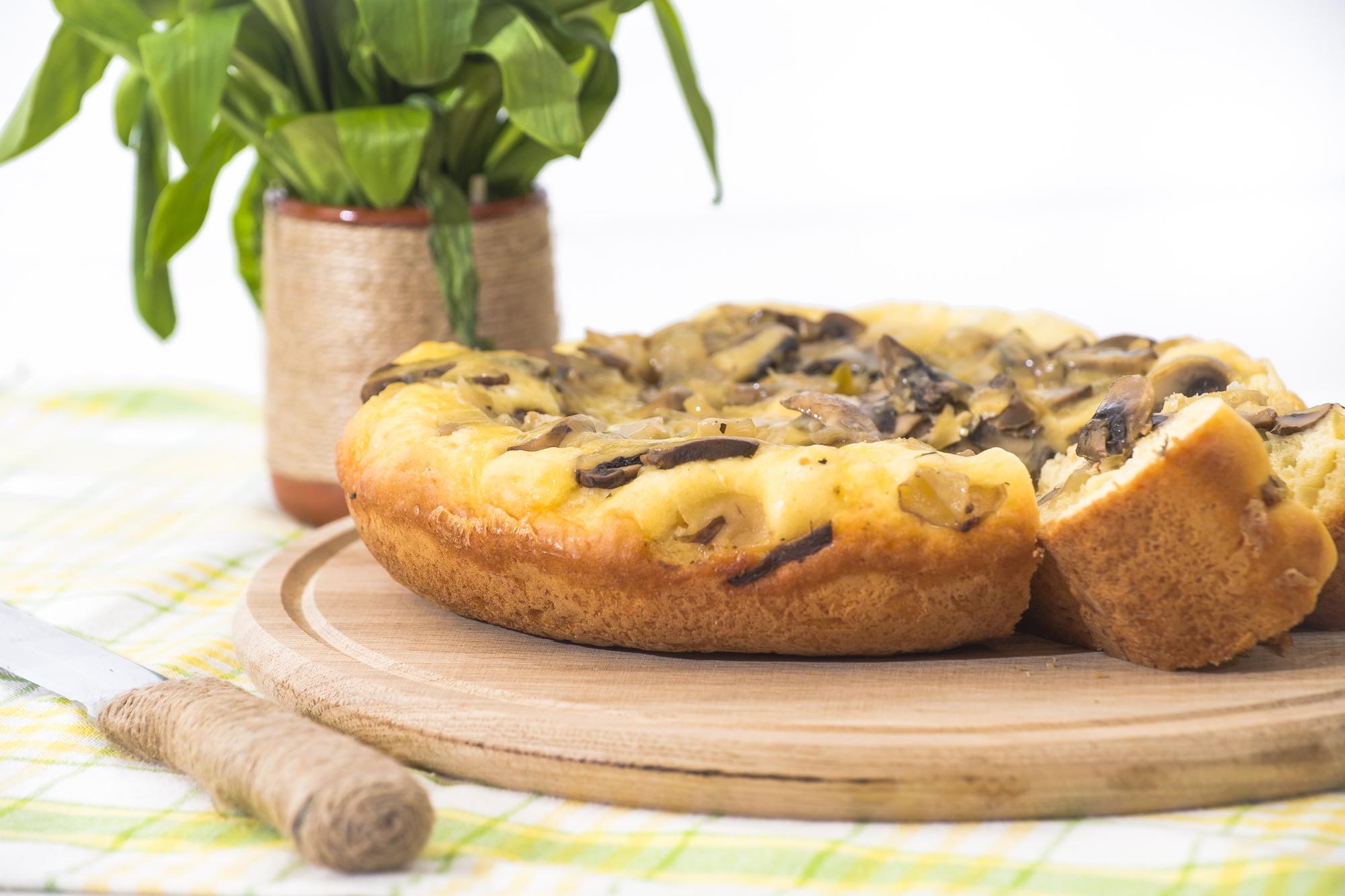 Аппетитный пирог с грибами