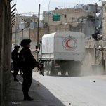 Aid Convoy Reaches Syria Town, but Fighting Forces Some Trucks to Return Full