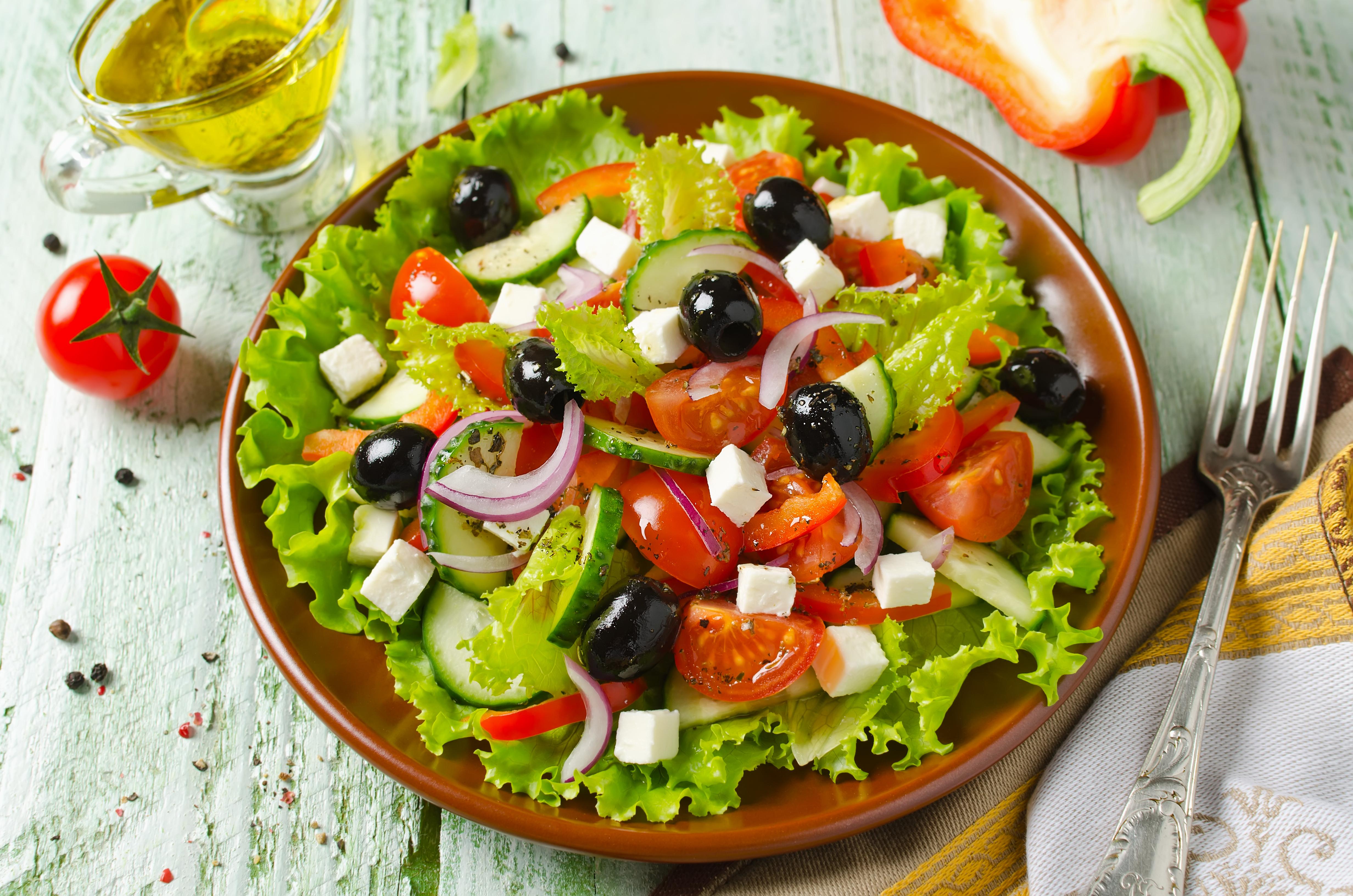Сочный греческий салат