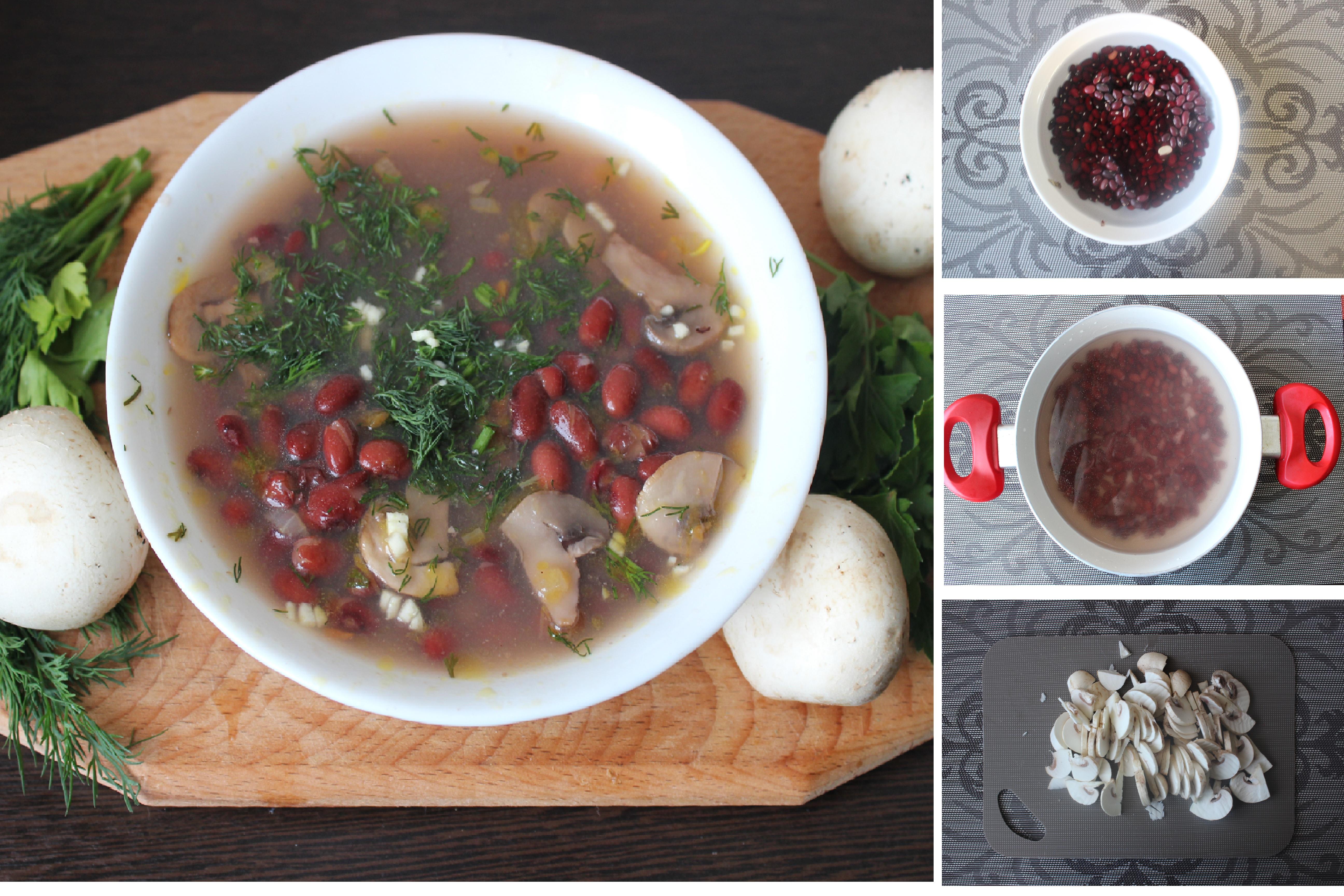 Пошаговый фото-рецепт: Тосканский грибной суп с фасолью
