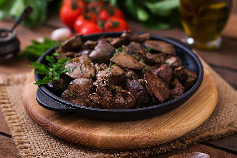 Куриная печень по-мароккански
