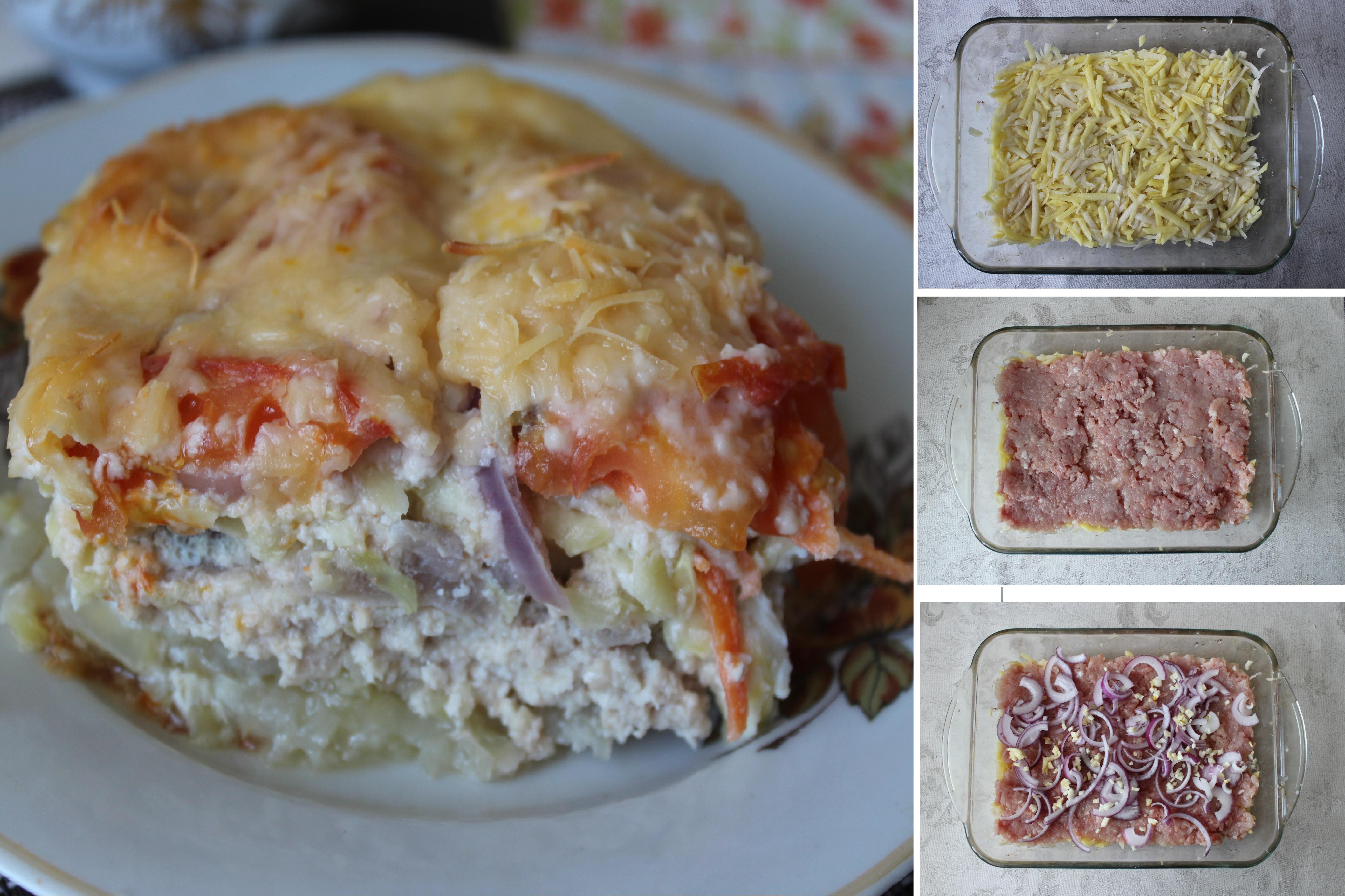 Овощная запеканка с мясным фаршем: пошаговый фото рецепт