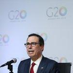 World Economic Leaders Warn of Trade War as Mnuchin Defends Policies