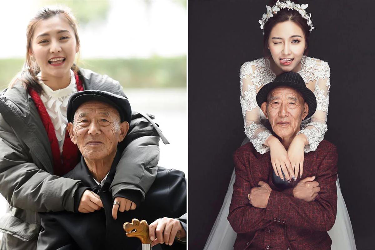 Девушка воплотила в жизнь мечту больного деда увидеть ее у алтаря