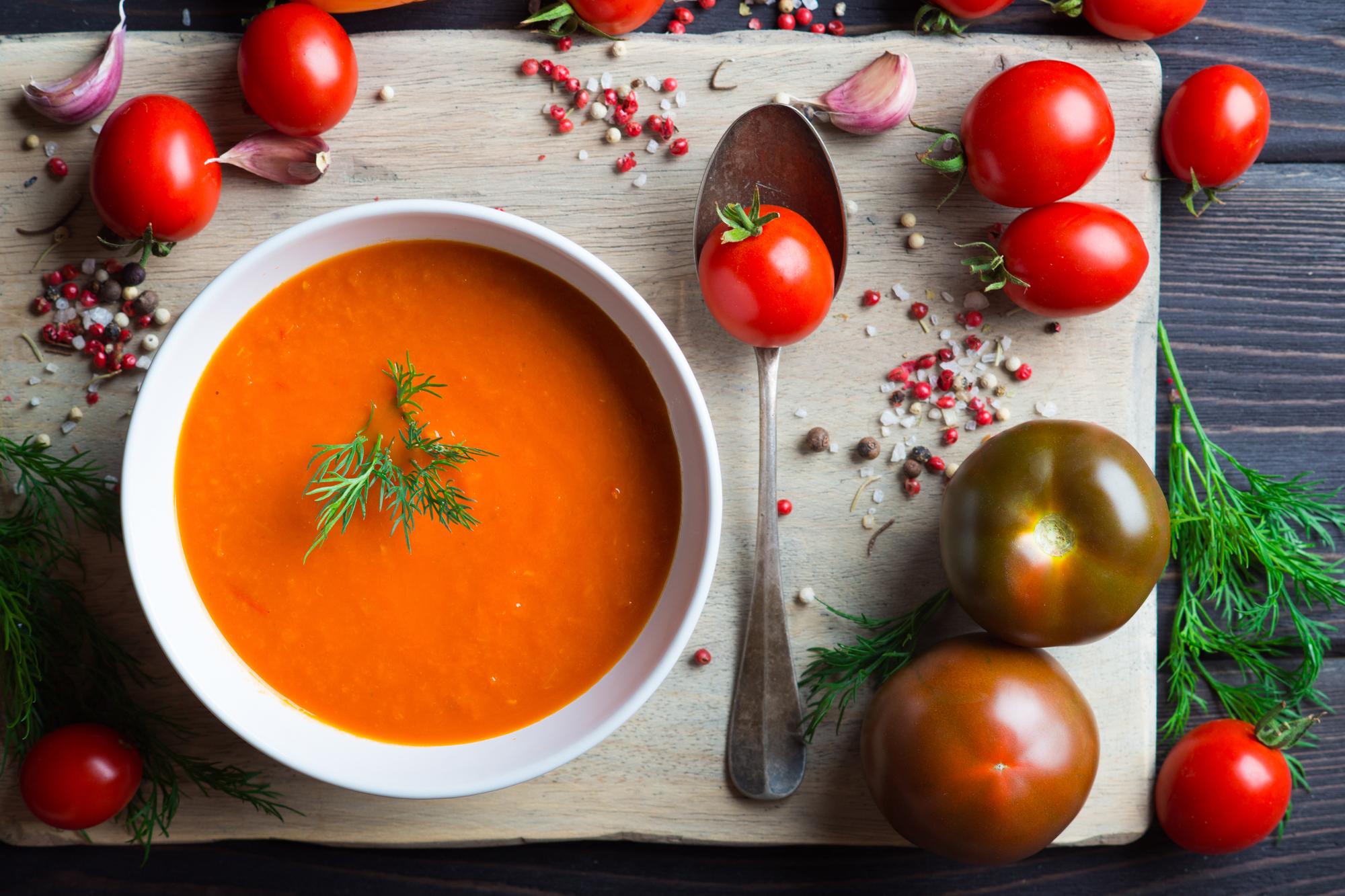 Томатный суп пюре с апельсином