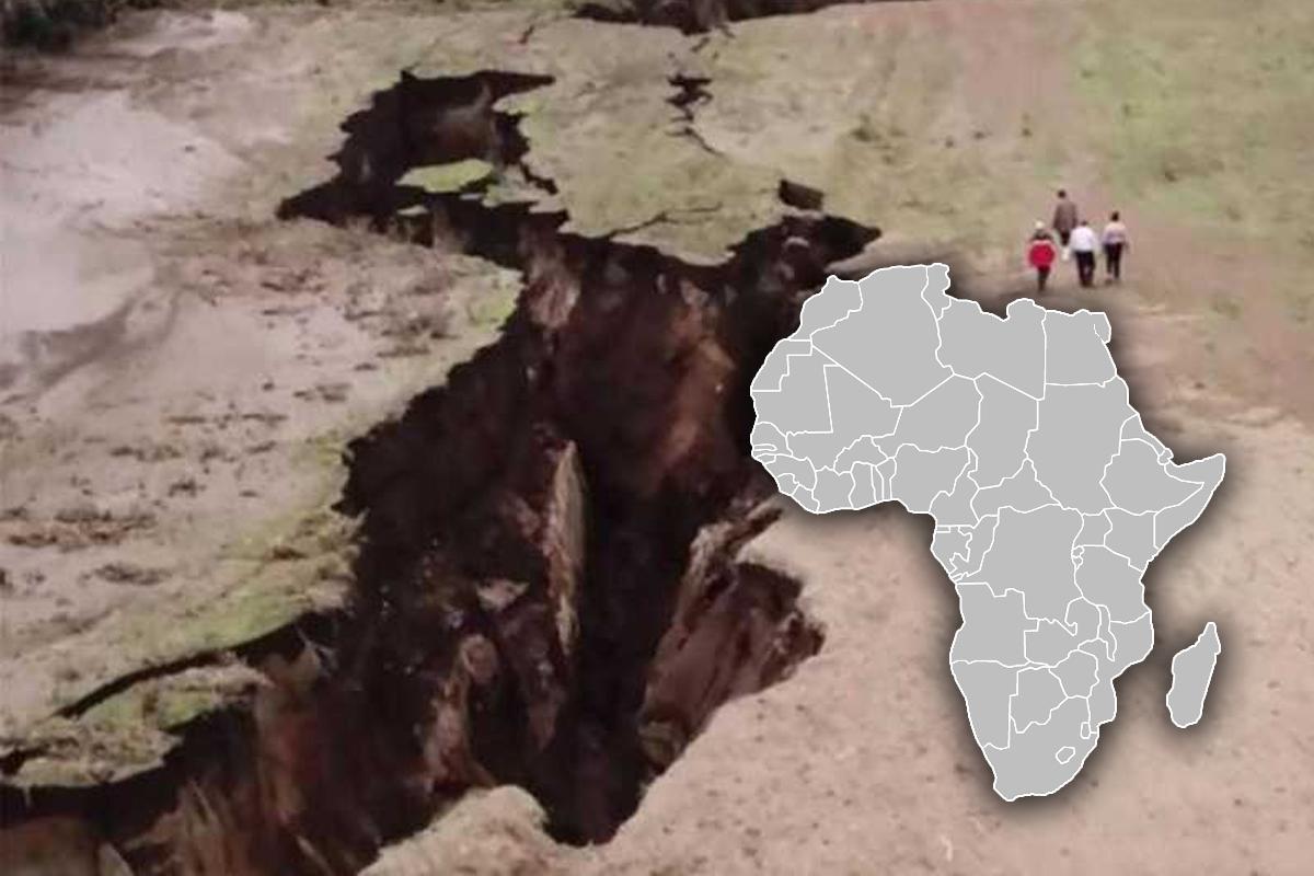 Африканский континент раскалывается на две части