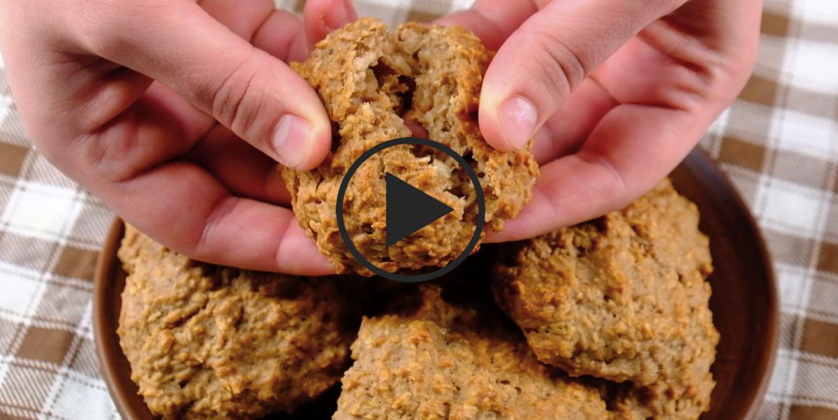 Видео-рецепт: Кокосовое печенье с бананом