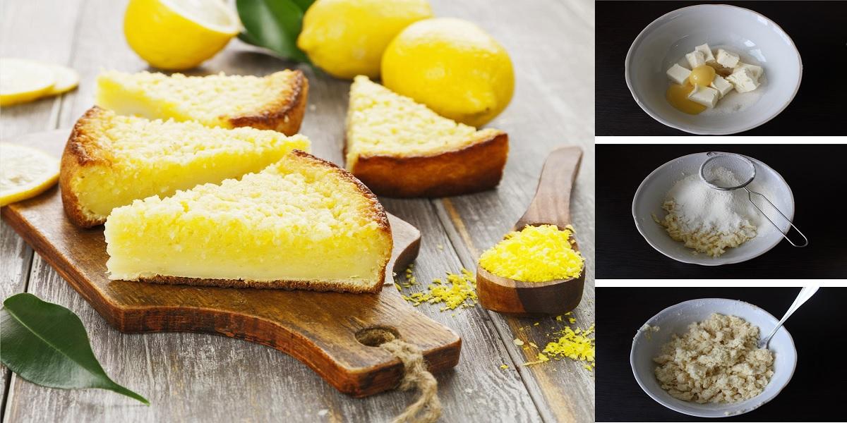 Открытый лимонный пирог: пошаговый фото рецепт