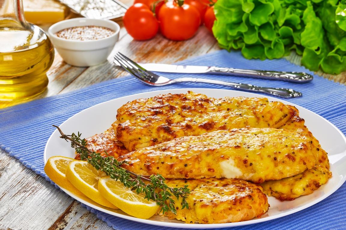 Пикантное куриное филе в медово-горчичном соусе