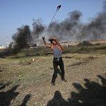 At Gaza Fence, Violence Fades as Israel Warns of Broader Response