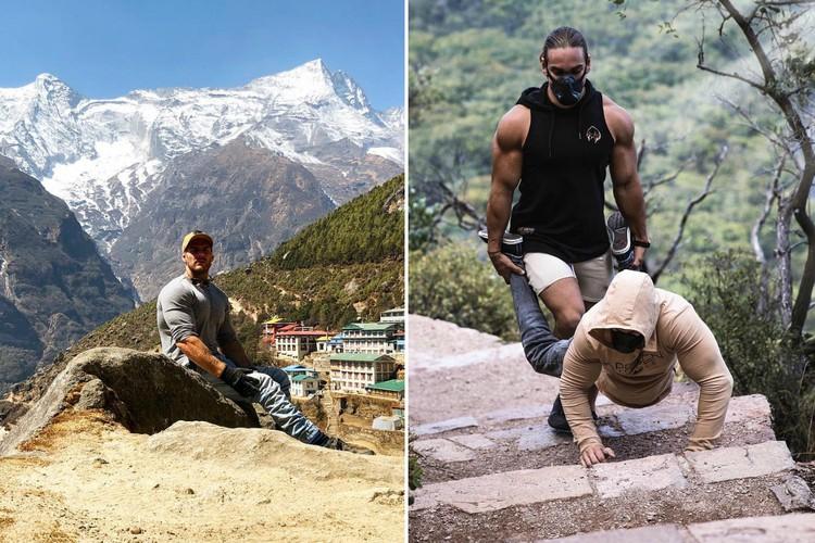 Инвалид-колясочник три дня взбирался на Эверест на руках