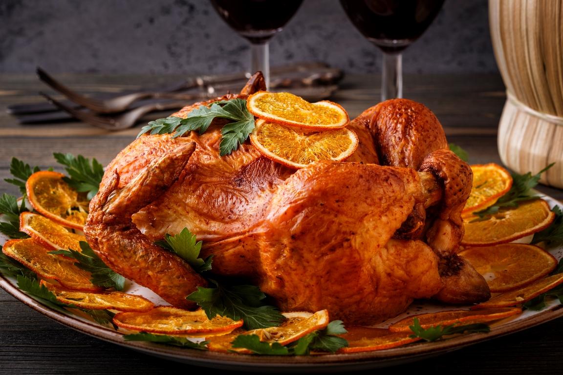 Вкуснейшая курица, запеченная с имбирем и апельсинами
