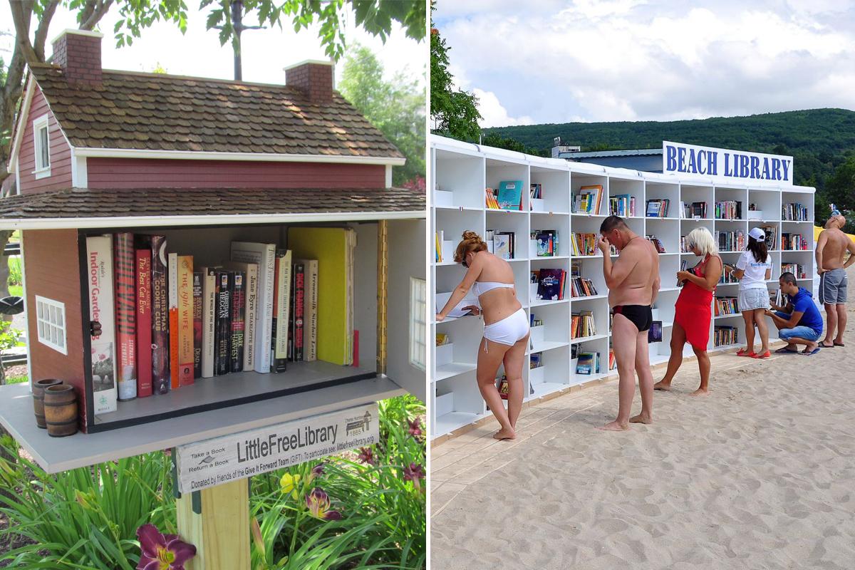 Книголюб: необычные альтернативные библиотеки отовсюду