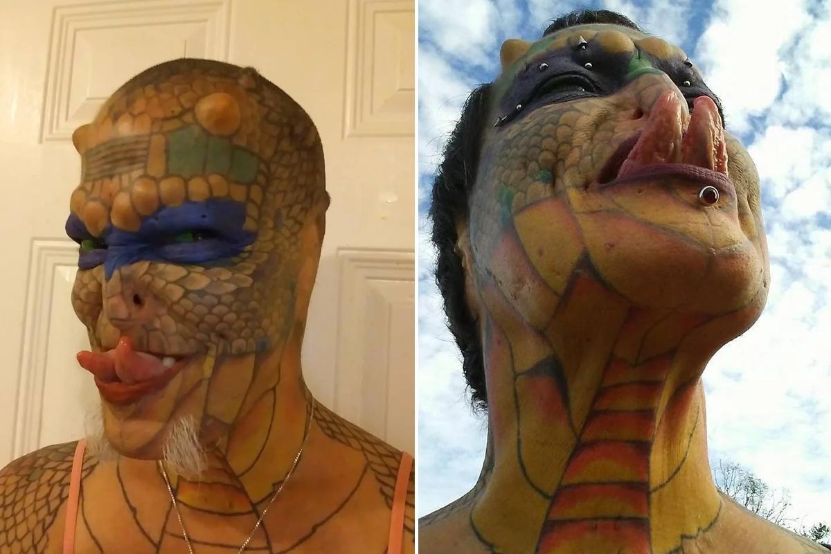 Женщина потратила состояние, чтобы превратить себя в ящерицу