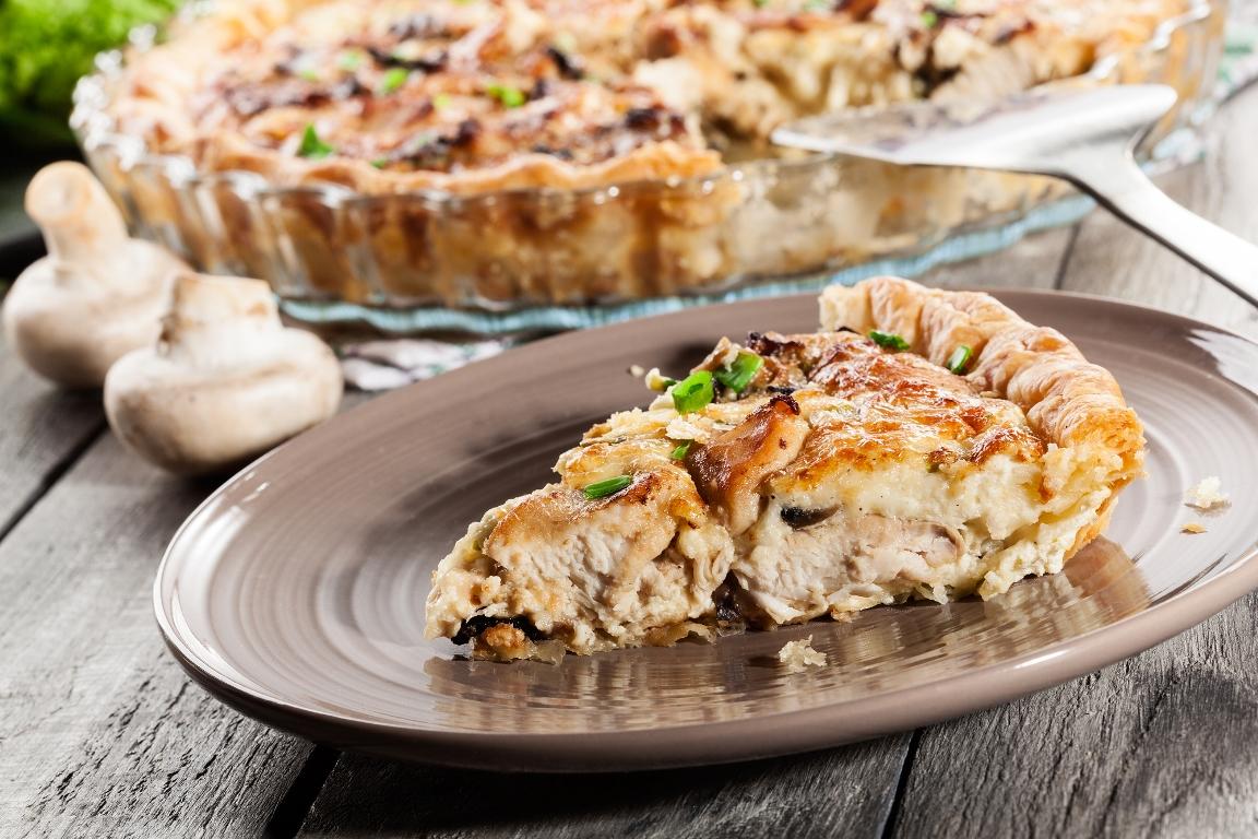 Вкуснейший пирог с курицей и грибами