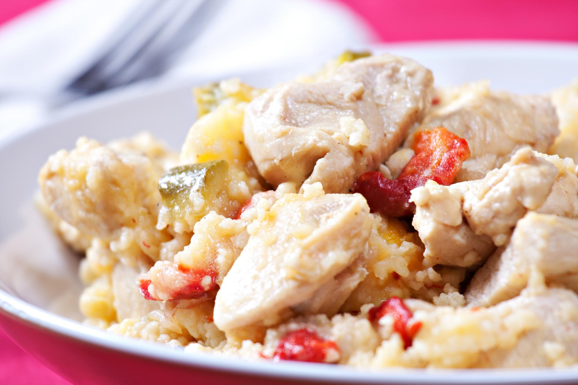 Кускус с курицей и овощами