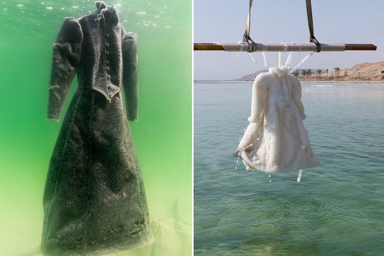 Что произойдет с платьем на дне Мертвого моря за три месяца?
