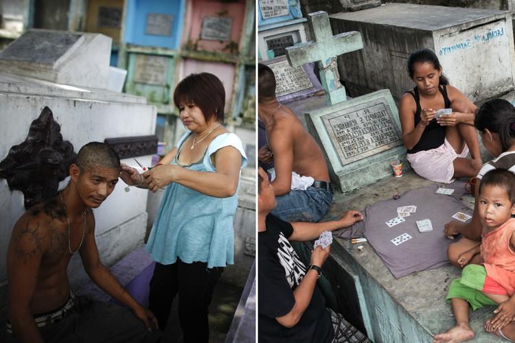 Фото В царстве мертвых: почему на Филиппинах люди живут на кладбищах