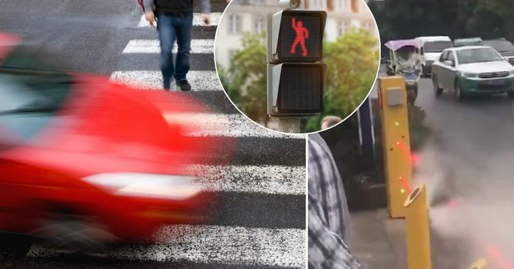 Фото Облить и опозорить: как в Китае борются с пешеходами-нарушителями