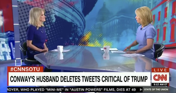 Photo of Kellyanne Conway to CNN host: How dare you use my husband's tweets against me