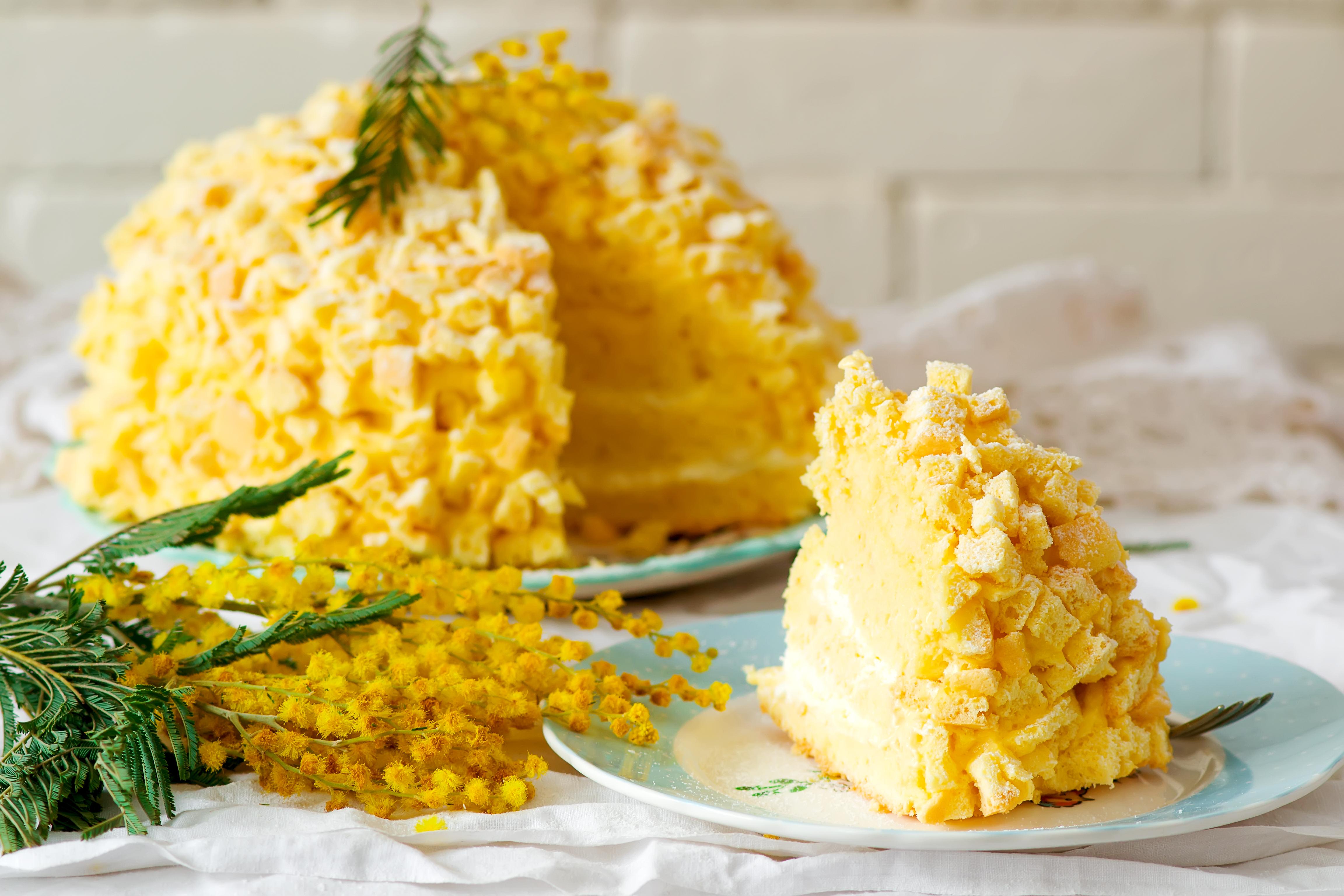 Торт Мимоза – классический итальянский десерт