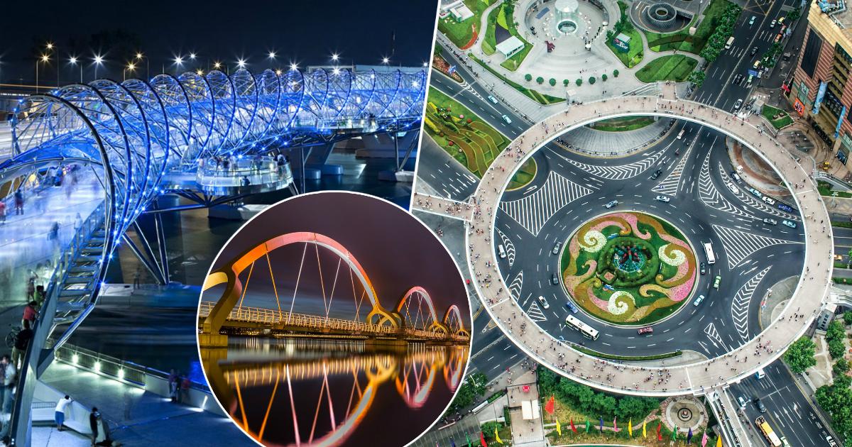Необычные и удивительные пешеходные мосты со всего мира