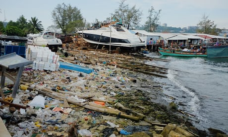 Photo of 'Mountains and mountains of plastic': life on Cambodia's polluted coast