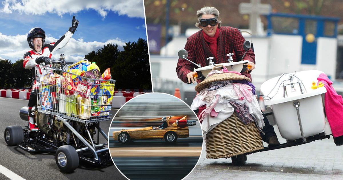 Фото Моторизированное бревно и другие странные транспортные средства