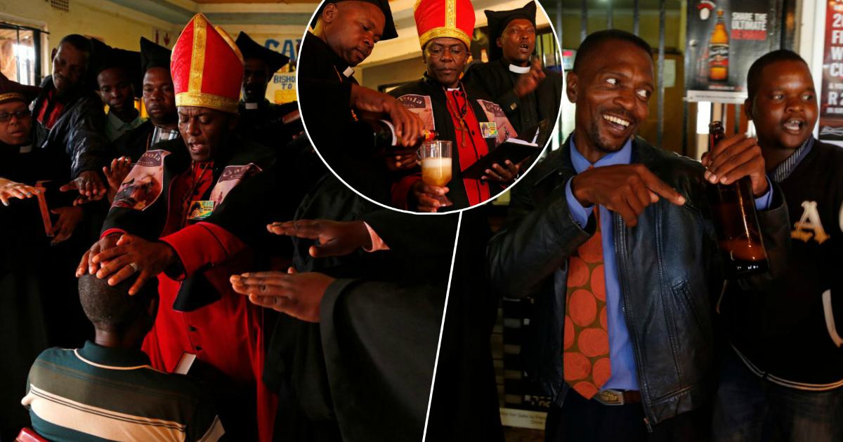 Фото Алкоголь во благо, или как проходят службы в церкви для пьяниц