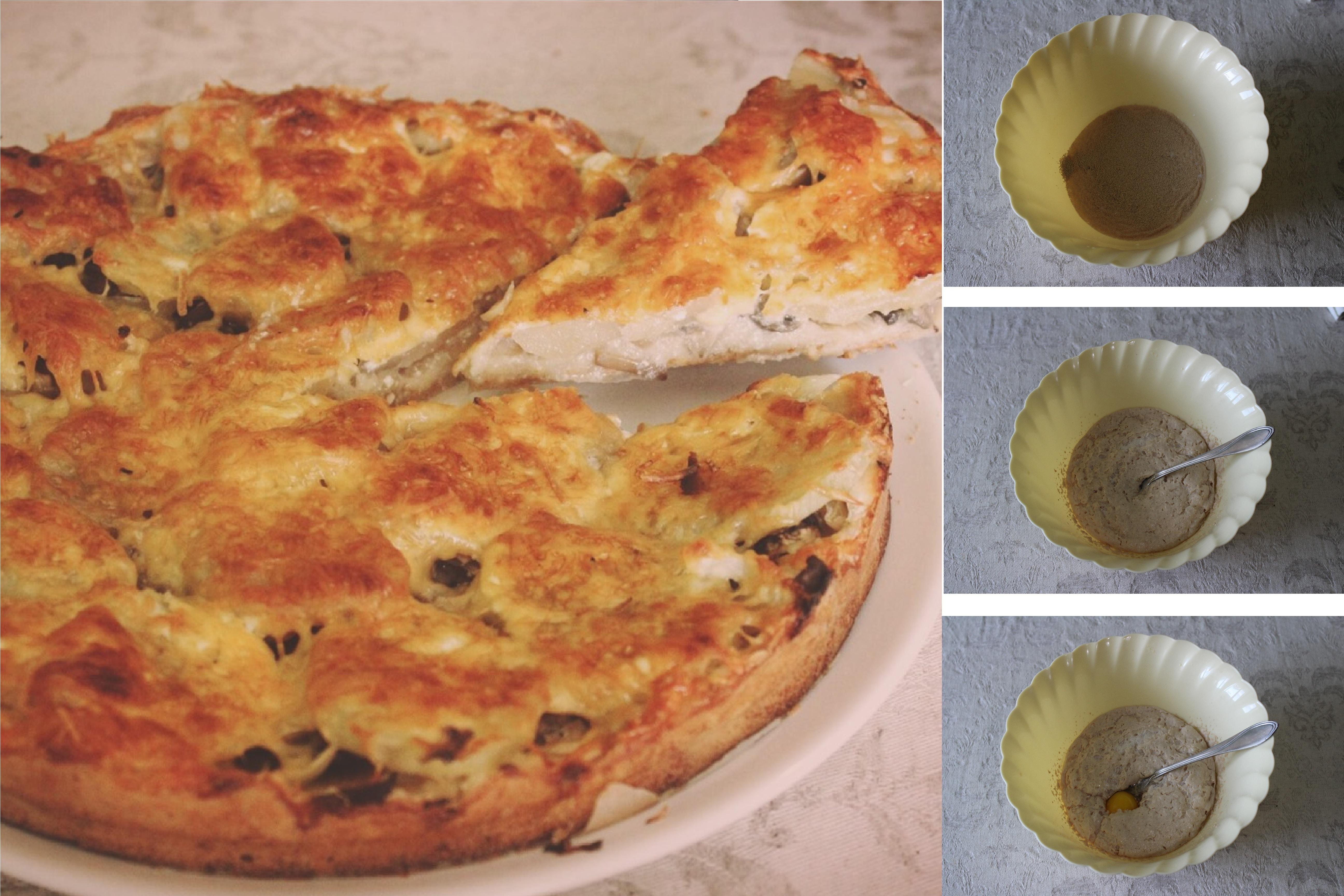 Слоеный пирог с грибами и картофелем: пошаговый фото рецепт