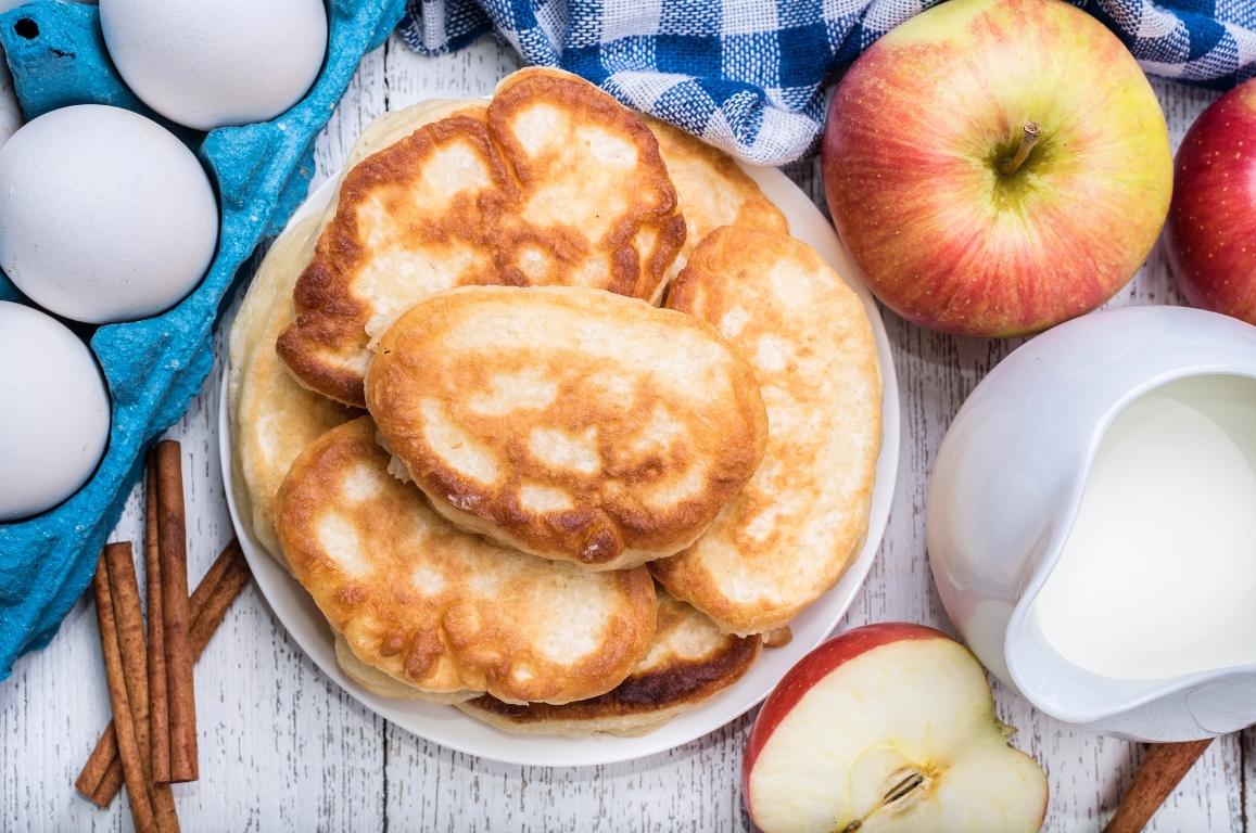 Нежнейшие творожно-яблочные оладьи