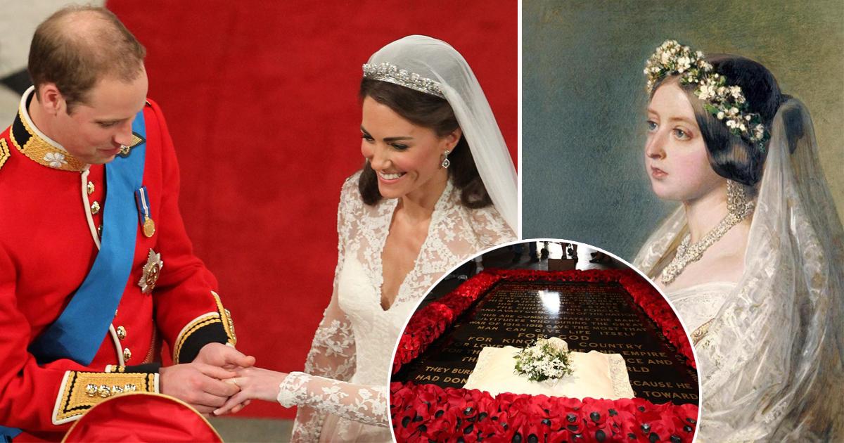 Фото Букет на могилу и другие неизменные свадебные традиции королевской семьи