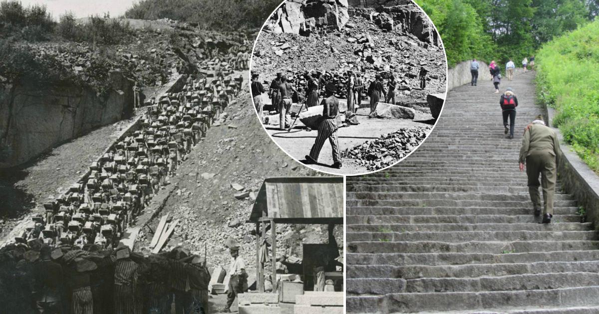 """Фото """"Лестница мертвецов"""", или одно из наиболее жутких мест Второй мировой войны"""