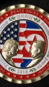 Commemorative North Korea summit coin selling at a discount