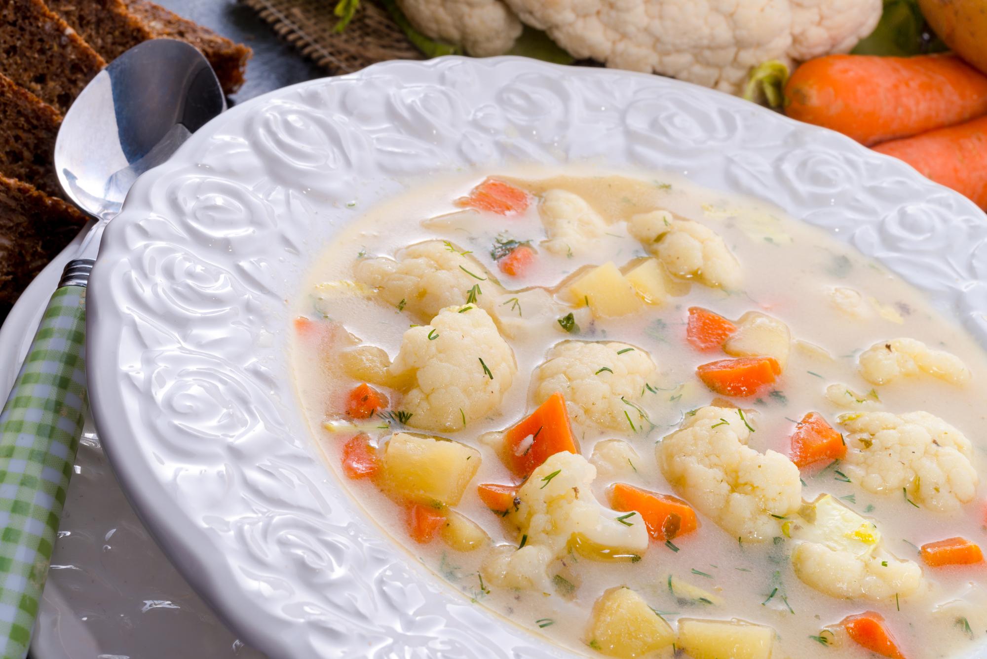 Сливочный суп с цветной капустой