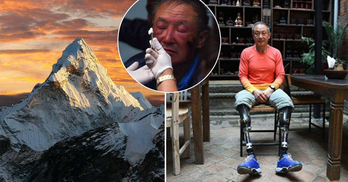 Фото Ничего невозможного: 69-летний безногий альпинист покорил Эверест