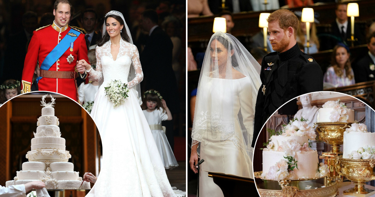 Принц Гарри и Меган Маркл против принца Уильяма и Кейт Миддлтон: чья свадьба лучше?
