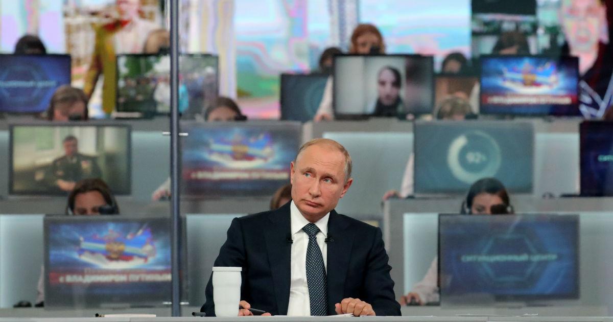 Фото Царство скуки. О чем сказал Путин на прямой линии