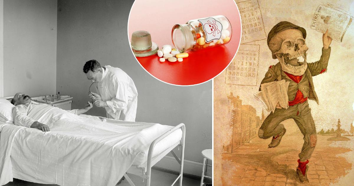 Смертельное лекарство: фармацевтическая реклама со скелетами, убившая немало людей