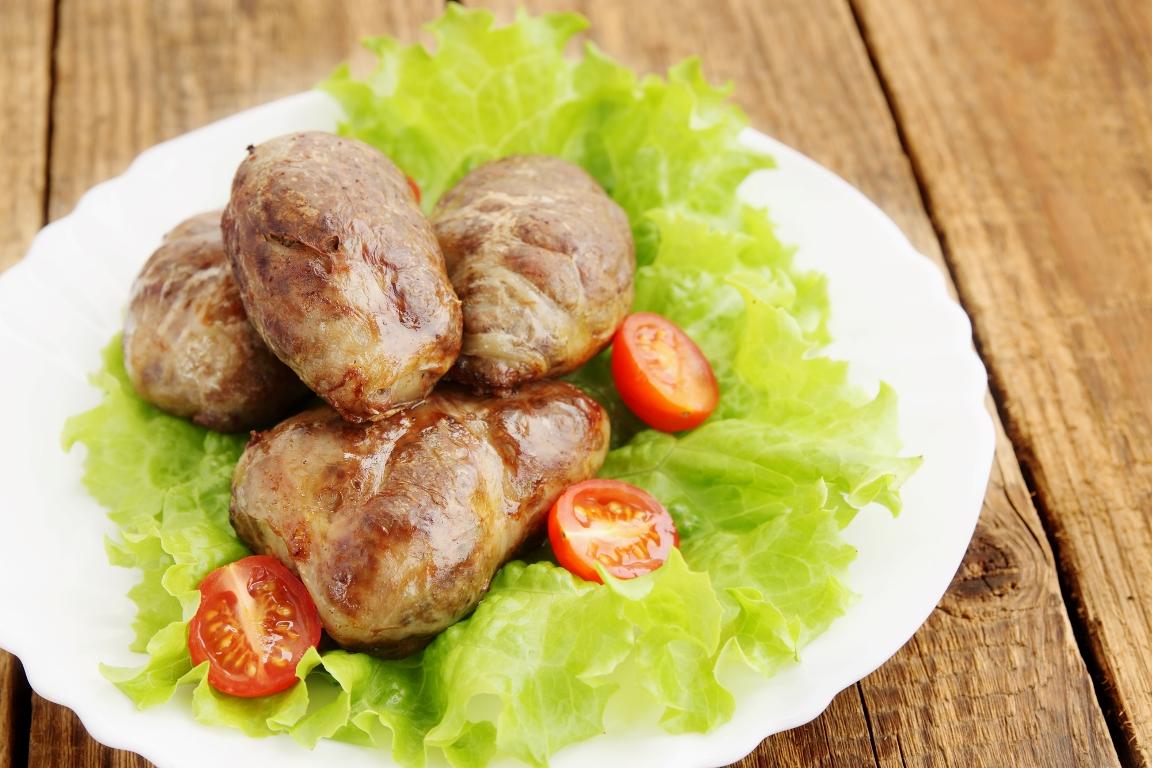 Лёгкие гречаники с куриным филе