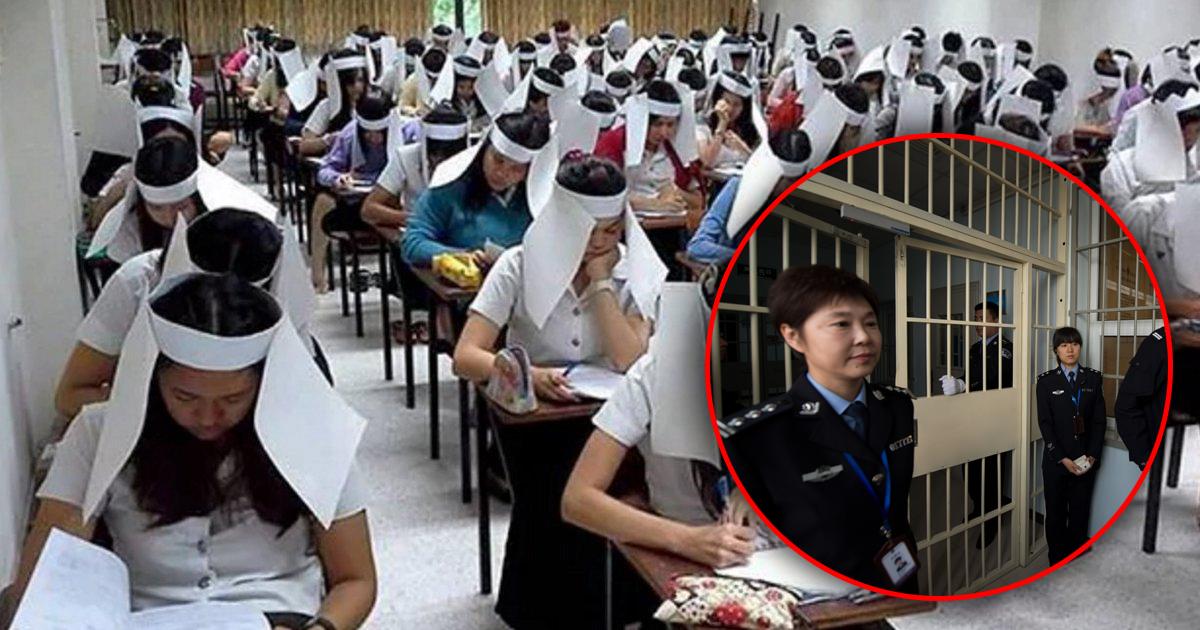 Фото За шпаргалку - в тюрьму: Жесткая система образования в Китае