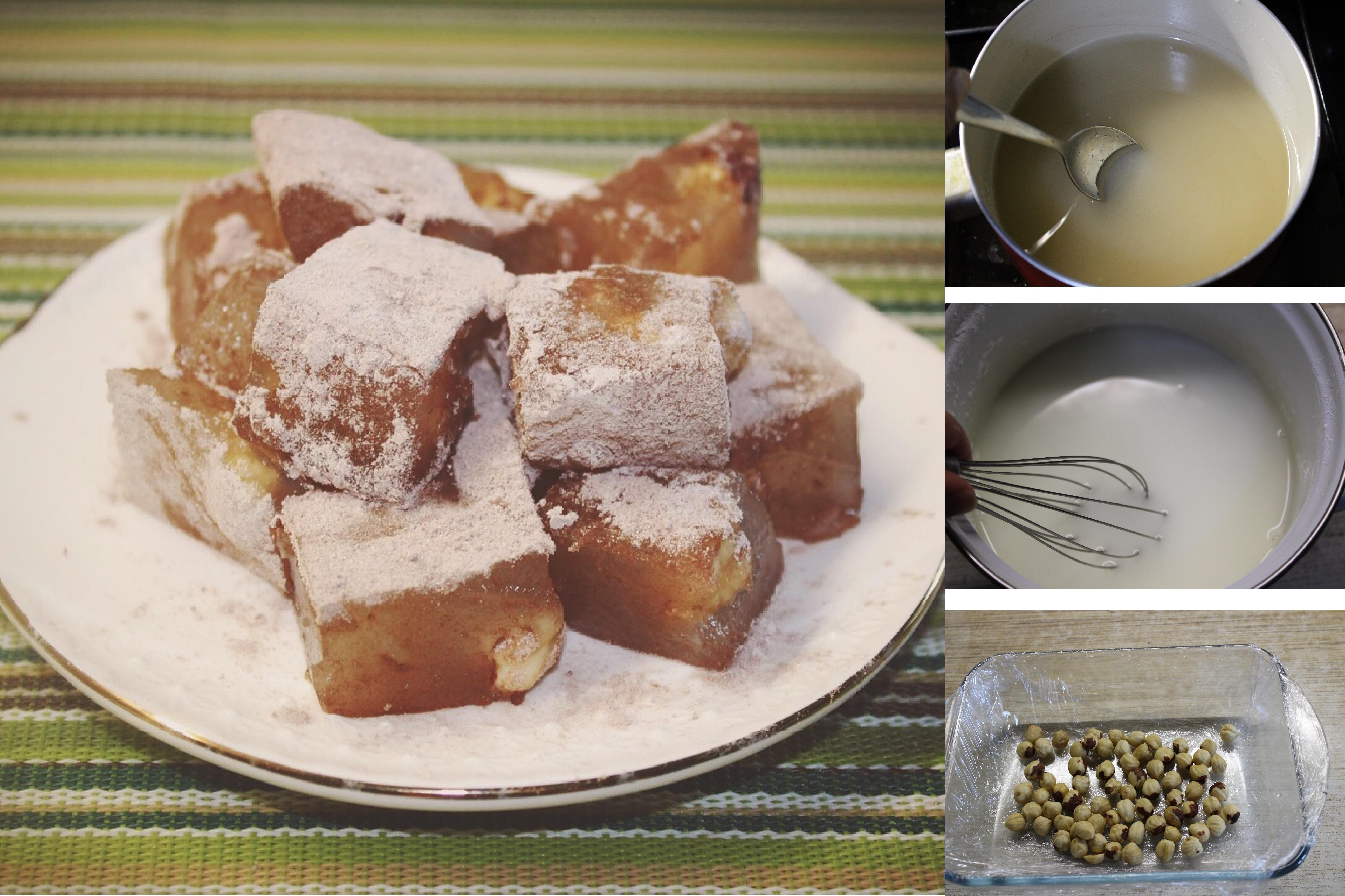 """Восточная сладость """"Рахат-лукум"""" с орехами: пошаговый фото рецепт"""