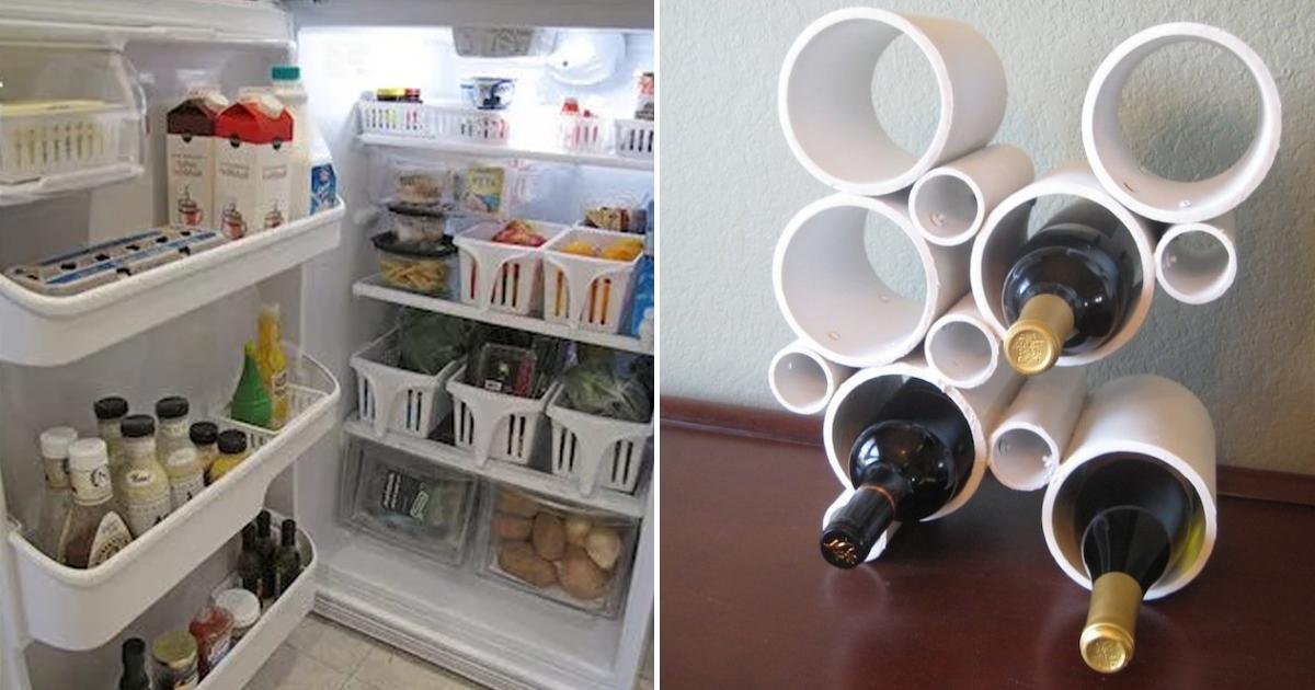 """Фото Винный шкаф из ПВХ. """"Умные"""" способы организовать пространство на кухне"""