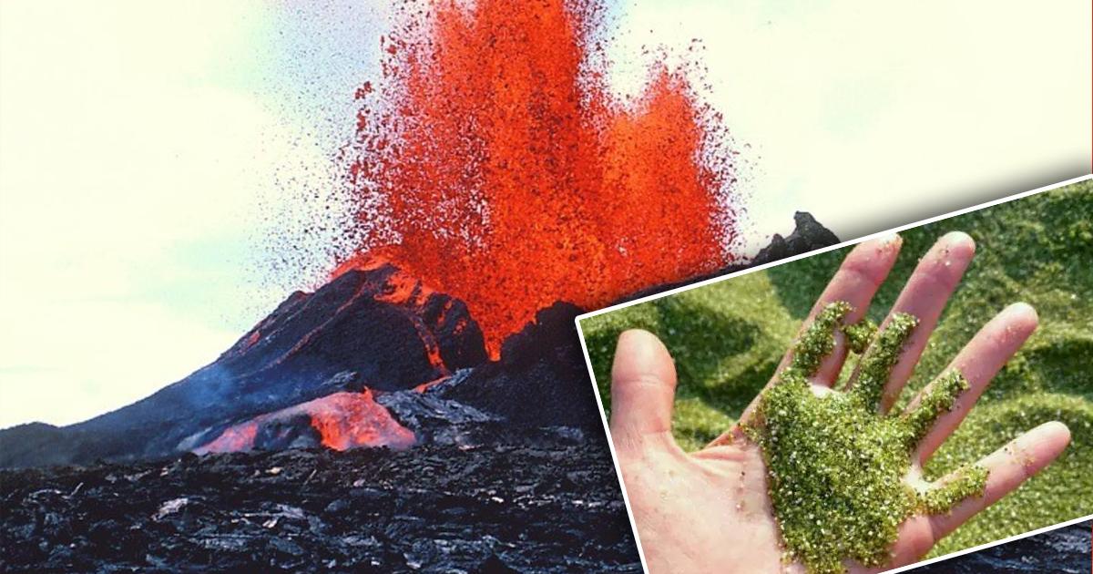 Фото Сокровища под ногами: вулкан на Гавайях разбрасывает драгоценные камни