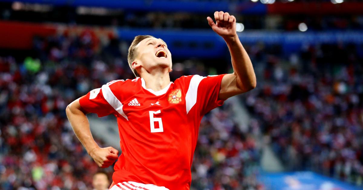Россия обыграла Египет и впервые в истории вышла в плей-офф ЧМ по футболу