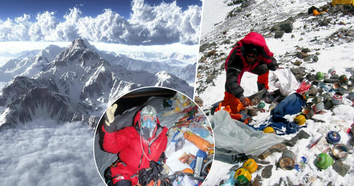 Свалка на вершине: как Эверест превратили в самую высокогорную помойку