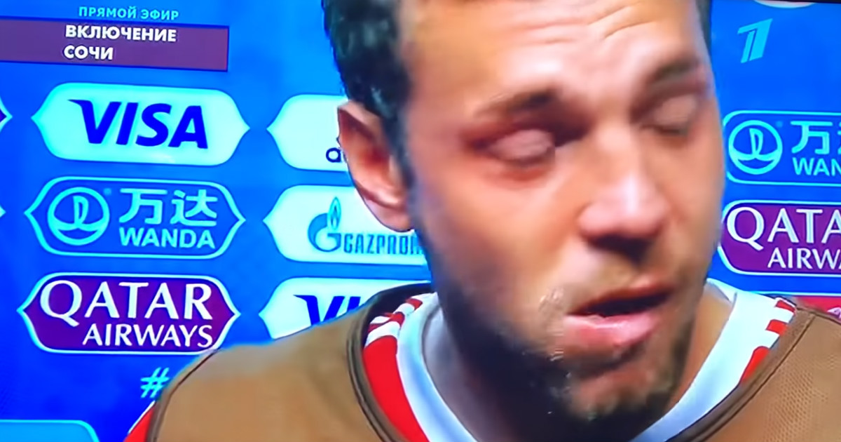 Фото Дзюба расплакался, комментируя проигрыш сборной России наЧМ
