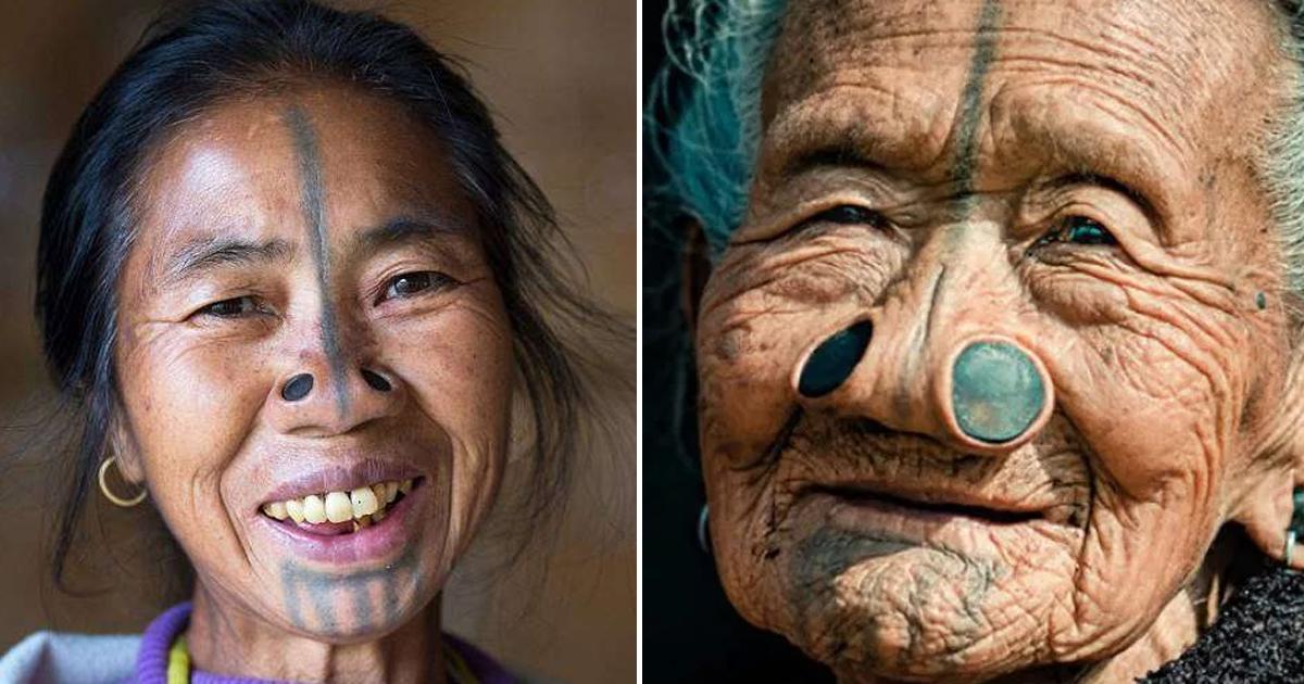 Фото Странная мода: традиционные втулки для носа народов апатани
