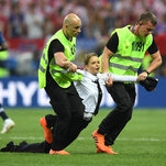 Pussy Riot Members Detained After Running Onto the Field in World Cup Final, Police Say