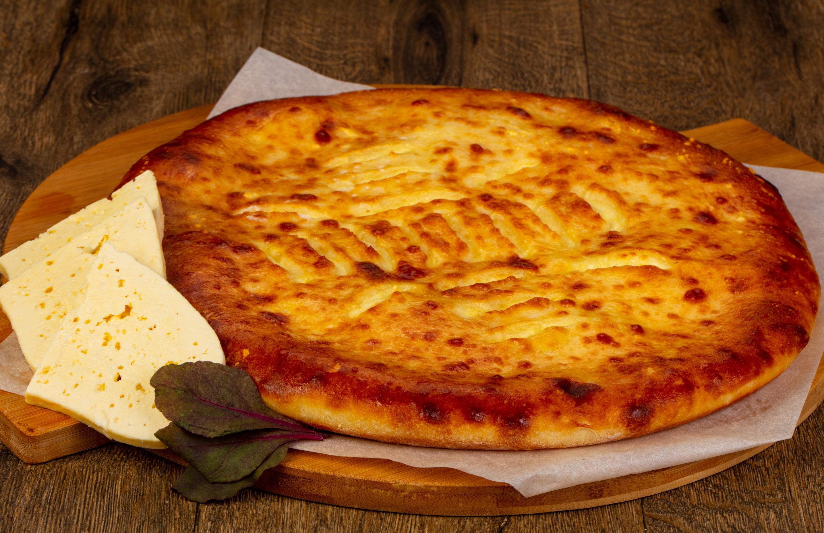 Осетинский пирог с сыром и свекольной ботвой